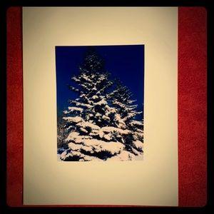 5 Hand-Made Winter Scene Photo Blank Cards